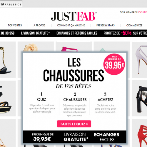 Illustration 1 Ecommerce : Zoom sur Justfab.fr