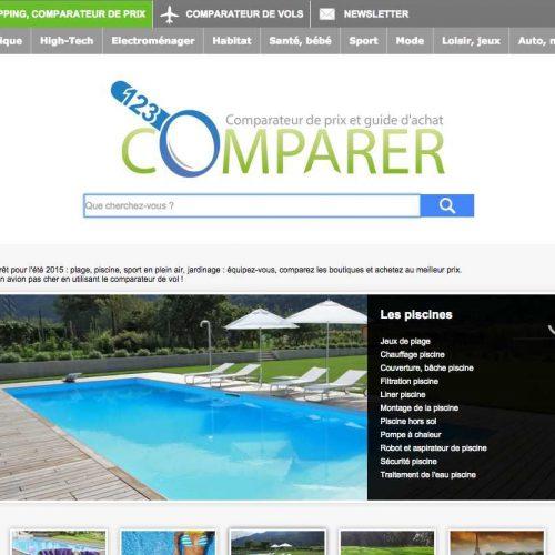 Illustration 1 Lancement du nouveau comparateur de prix en Ecommerce : 123comparer.fr