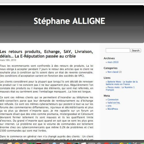 Illustration 1 Le blog Ecommerce StephaneAlligne.com a 6 ans !