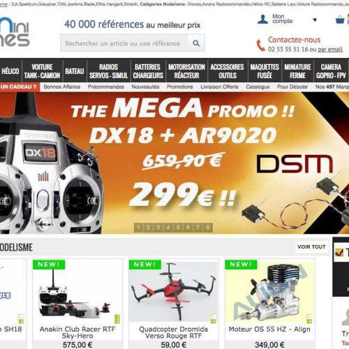 Illustration 1 Découverte du site E-commerce : Miniplanes.fr