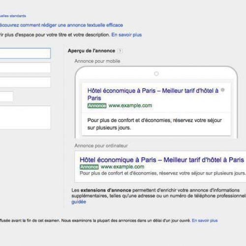 Illustration 1 Google Adwords revoit complètement la conception des annonces