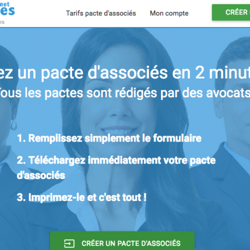 Illustration 1 Nouveau site Ecommerce : Pacte-Associes.net