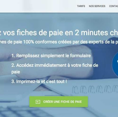 Illustration 1 Nouvelle version du site Ecommerce Fiche-Paie.net, site de services BtoB