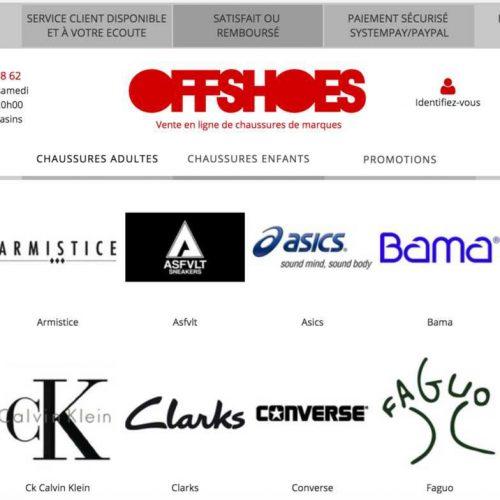 Illustration 1 Découvrez le site Ecommerce de chaussures OffShoes qui va être entièrement revu