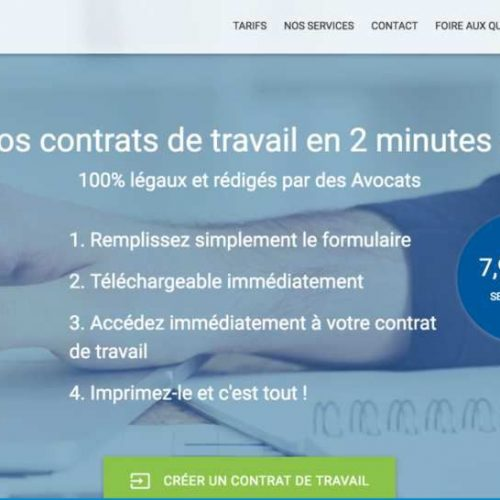 Illustration 1 Focus sur Contrats-de-travail.net spécialisé dans la création de contrats de travail en ligne