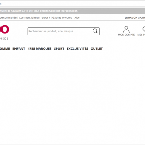 Illustration 1 Ecommerce down : Spartoo