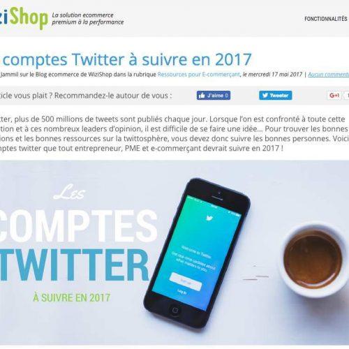 Illustration 1 Ecommerce : WIzishop présente les comptes Twitter à suivre en 2017