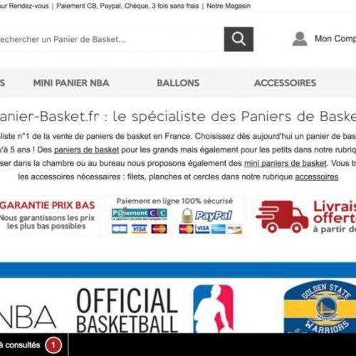 Illustration 1 Ecommerce : Focus sur Panier-Basket.fr le leader Français du Ecommerce du panier de basket