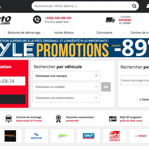 Illustration 1 Test consommateur : Focus sur le site Ecommerce WebDealAuto spécialiste de la pièce auto