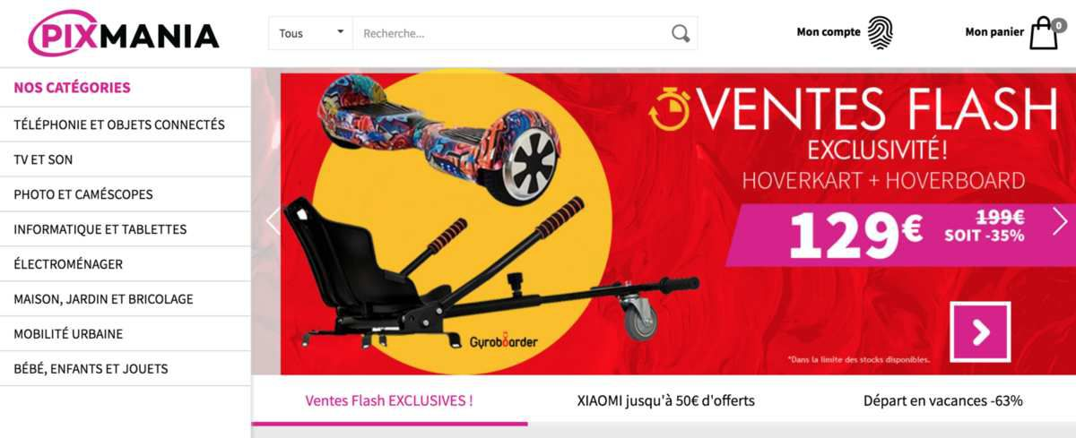 Le site Ecommerce Pixmania change [ENCORE] de mains !