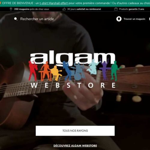Illustration 1 [ECOMMERCE] ALGAM lance son site Ecommerce d'instruments de musique