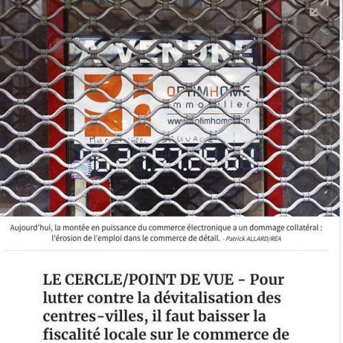 """Illustration 1 [ECOMMERCE] Un Maire LR veut taxer le Ecommerce parce qu'il """"consomme de l'espace public""""."""
