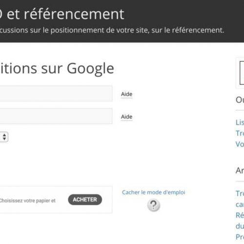 Illustration 1 [SEO] 5 outils pour vérifier la position de son site internet dans les résultats de Google