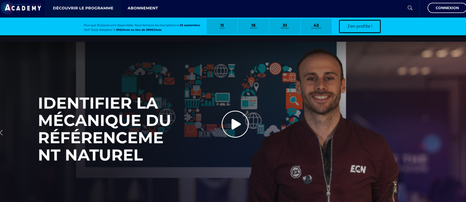 Plateforme de formation Ecommerce Nation Academy