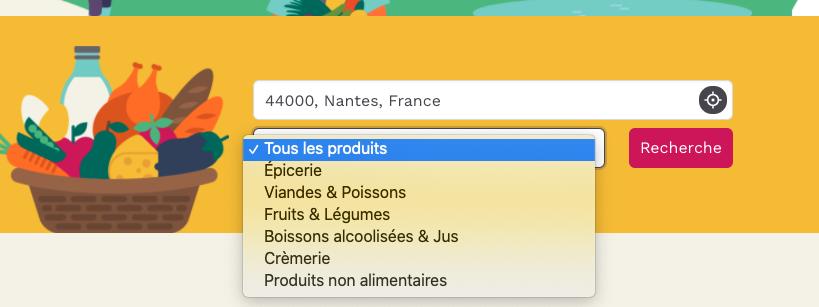 Sélection des produits sur localetfrais.fr
