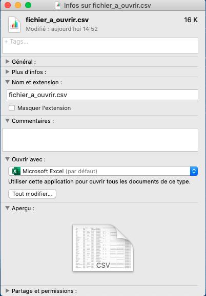 changer d'application d'ouverture sur Mac